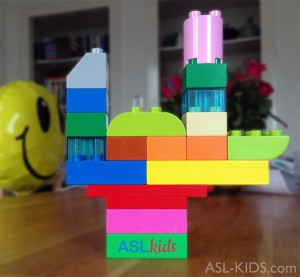 Sign Language for kids - I Love You in LEGO