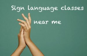 sign language classes near me